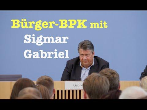 BürgerPresseKonferenz mit Vizekanzler Sigmar Gabriel (SPD) vom 28. August 2016