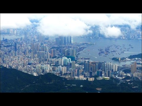 Arrival Video - Landing Hong Kong Airport HKG