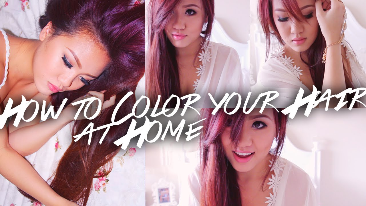 How to Dye Your Hair at Home - Drugstore Hair Dye (Red to Purple ...
