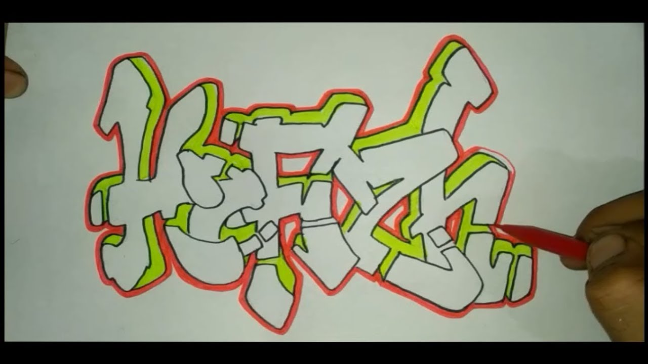 83 Gambar Huruf A Grafiti Gratis