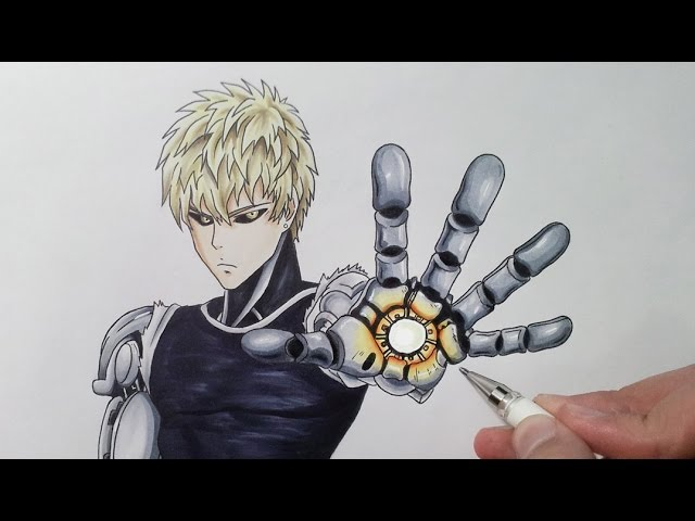 Drawing Genos From One Punch Man Youtube