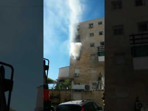 Partial balcony collapse in Jerusalem (Media Resource Group)