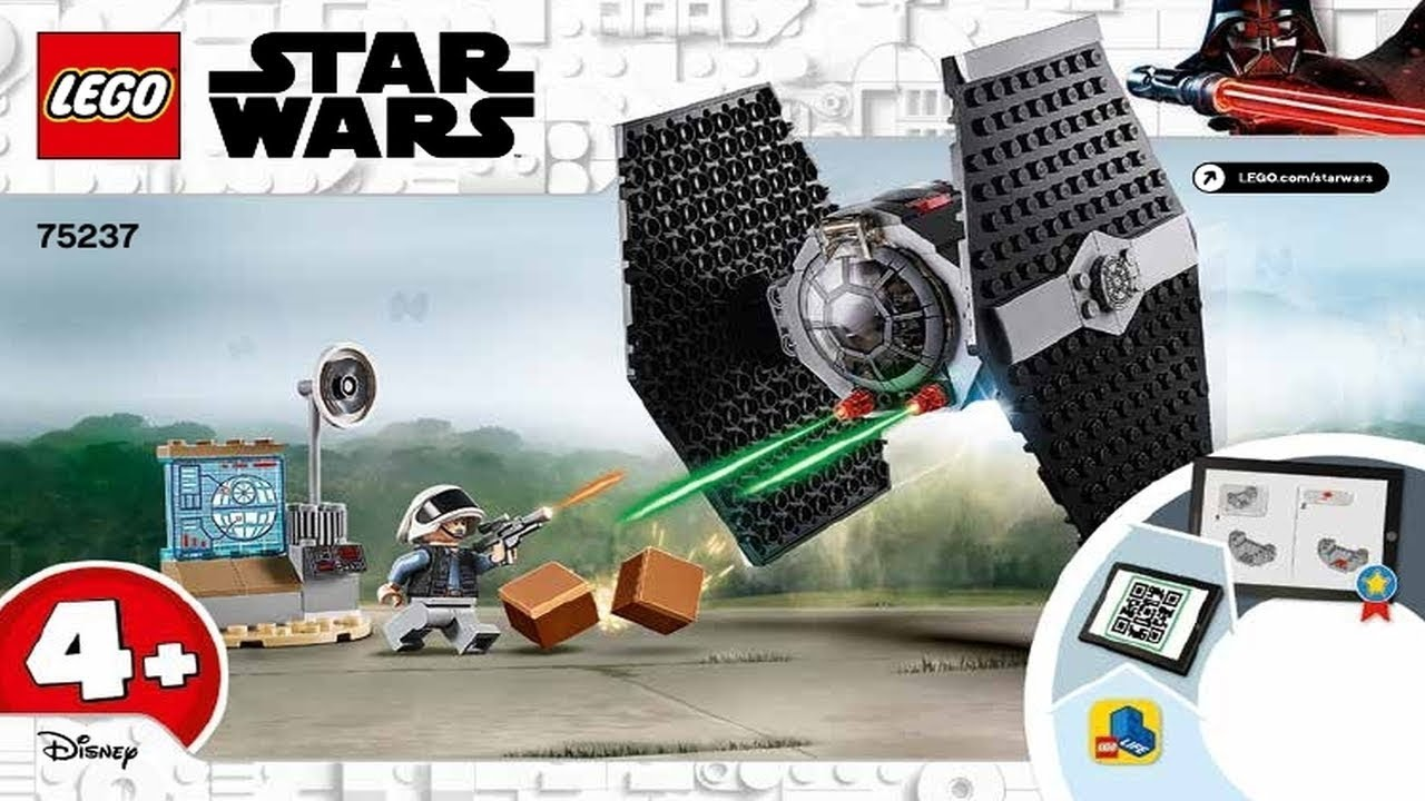 Building Kit LEGO Star Wars TIE Fighter Attack 75237 4 New 2019 77 Pieces