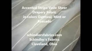 Accented Stripe Voile Sheer Drapery Fabric