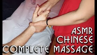 💆 Chinese hands, head, shoulders, legs and arms massage - ASMR no talking