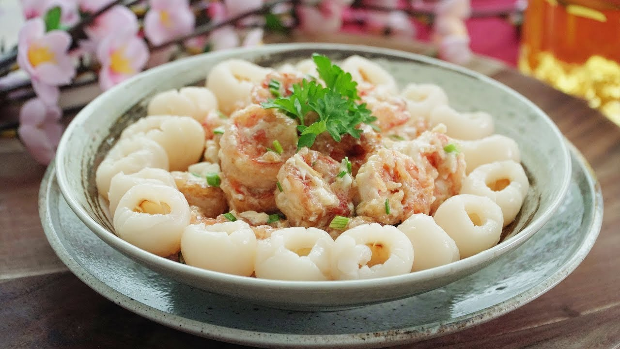 Lychee Salad Prawns 荔枝沙拉虾 Youtube