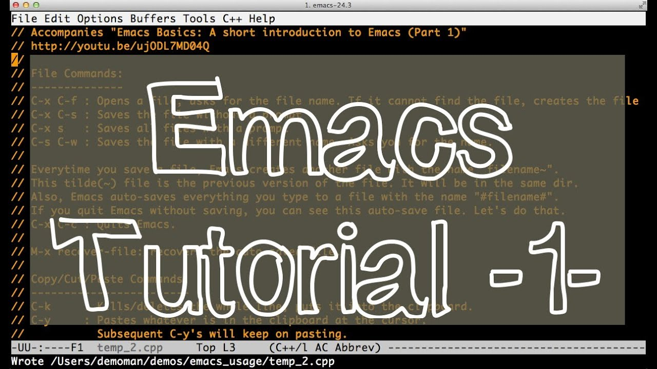 How to use emacs, an excellent clojure editor | clojure for the.