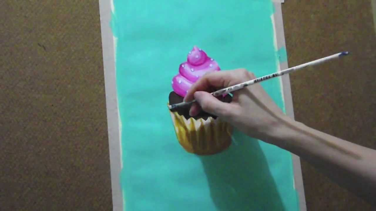 Clases de dibujo cupcake youtube - Como decorar un dibujo ...