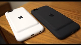 Apple iPhone 6S Smart Battery Case Unboxing and Review! [Charcoal Gray and White]