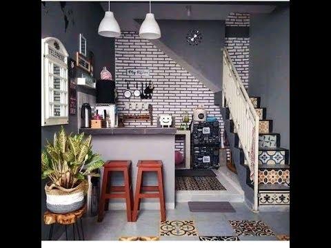 manfaatkan ruang bawah tangga jadi dapur kecil - youtube