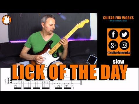 Lick Of The Day Nr. 16   Guitar Fun Works