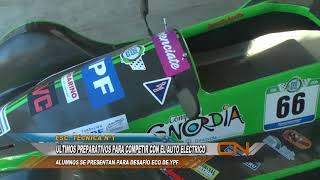 ÚLTIMOS PREPARATIVOS PARA COMPETIR CON EL AUTO ELÉCTRICO
