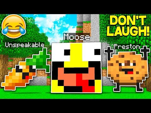 IF YOU LAUGH YOU LOSE! TRY NOT TO LAUGH CHALLENGE! With UNSPEAKABLEGAMING & PRESTONPLAYZ