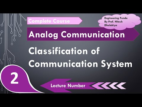 Classification Of Communication System, Simplex & Duplex Communication By Engineering Funda