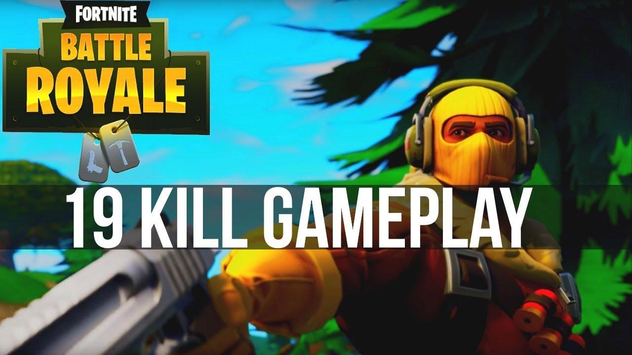 19 Kill Solo Win Fortnite Battle Royale Full Gameplay