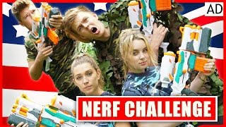 BRITISH BOYS VS AMERICAN GIRLS - EPIC NERF BATTLE