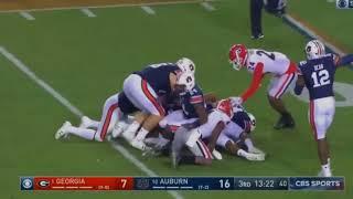 #1 Georgia vs #10 Auburn Highlights || College Football Week 11 Highlights