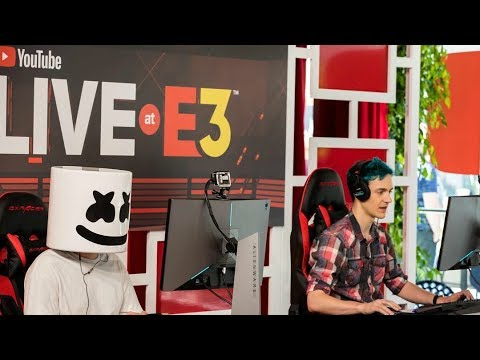 Marshmello x Ninja Play Fortnite Battle Royale Duos @ YouTube E3 Live