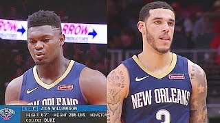 Zion Williamson Pelicans Debut With Lonzo Ball & Brandon Ingram In NBA Preseason! Pelicans vs Hawks