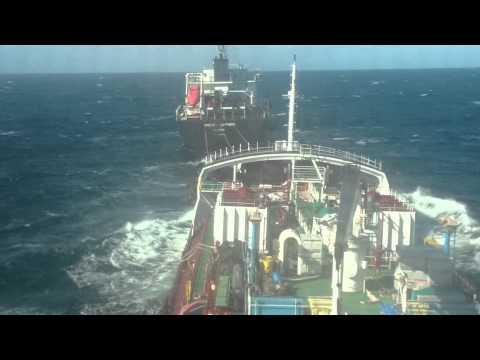 San Padre Pio - loading cargo at high seas