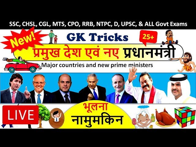 🔴 Prime Minister of all countries 2020 Gk Tricks | Countries with prime ministers | Current Affairs