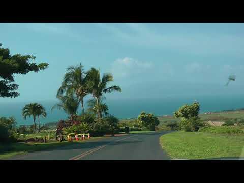 driving through neighborhood east of Launiupoko Beach Park in Maui, Hawaii (1 of 2)
