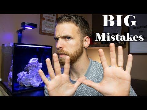 10 Huge Mistakes Being Made!! Saltwater Aquarium And Reef Tank Mistakes In 2018