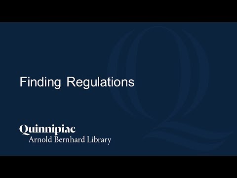 Finding Regulations