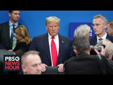 Trump leaves NATO summit after drama-filled visit