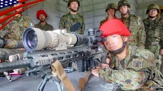 Japanese Soldiers Touch The US M2010 Sniper Rifle & US-Japan Sniper Training