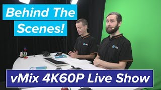Behind The Scenes For Our 4K 60P Live Stream
