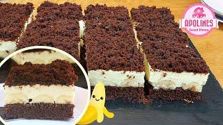 სამარხვო ნამცხვარი ბანანის ნაჭრები 🍌 Vegan Cake Banana Slices банановый веганский торт