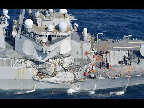 US Navy destroyer collides with merchant ship off Japanese coast