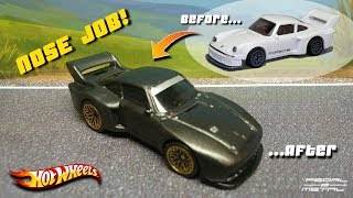 Custom Hot Wheels PORSCHE 934.5 to 935/76 | She Got A Nose Job!