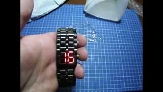 Посылка из Китая - Часы браслет (LED Lava Watch Samurai)