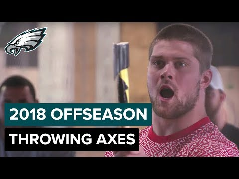 Eagles Players Face Off with Throwing Axes at Urban Axes Phi