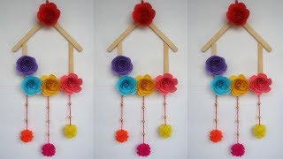 DIY: Ice cream Stick Crafts!!! How to Make  Wall Hanging With Ice cream Stick /Popsicle Stick!!!