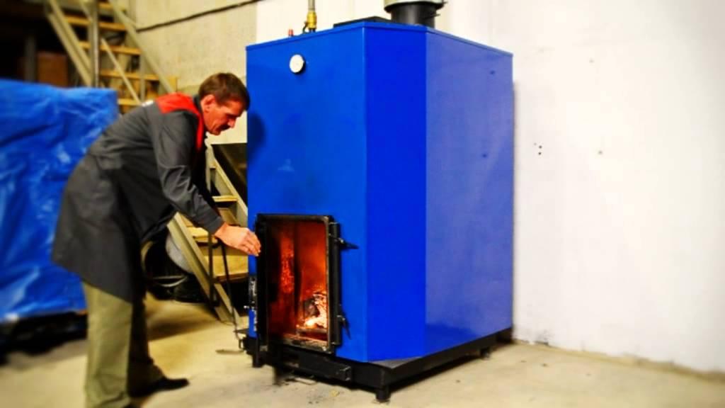 Самодельный газогенераторный котел для воздушного отопления AHS 45 .
