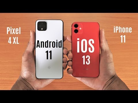 Pixel 4 XL Android 11 Vs IPhone 11 Speed Test