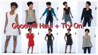 Goodwill Haul + Try On! - (Clothing) Thrifting - NaturalMe4C - 4C Natural Hair
