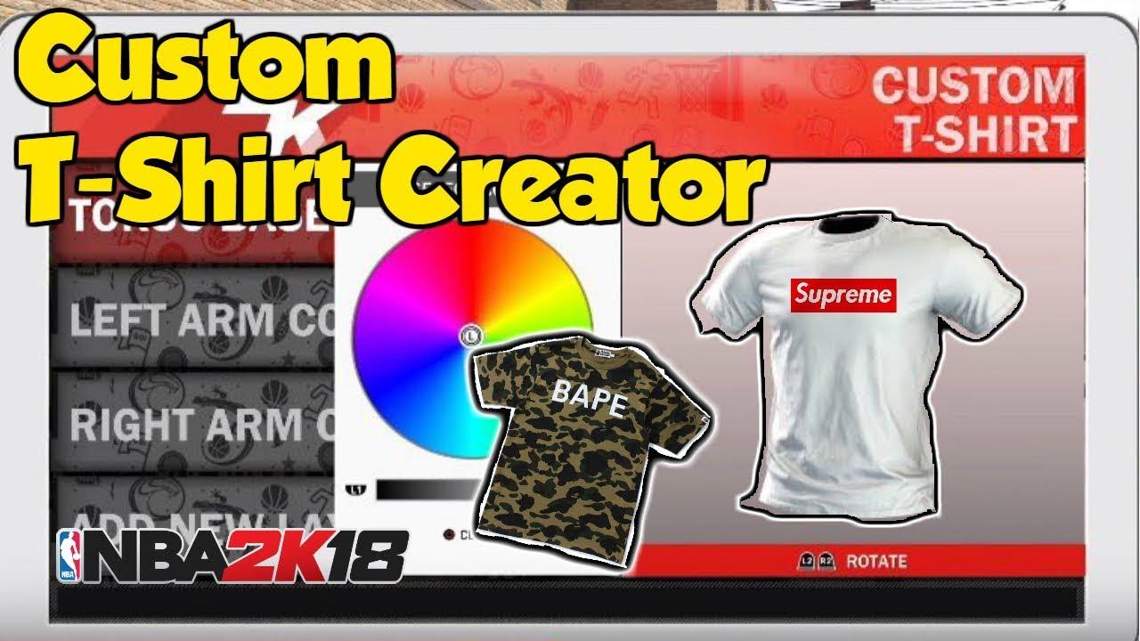 New designer brands in the game nba 2k18 custom t for Random t shirt generator