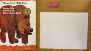 How to do TEAR ART - How to draw a Bear - Eric Carle Brown Bear | Mr. Schuette