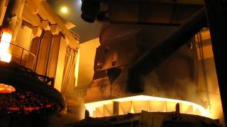 Завалка лома в дуговую сталеплавильную печь