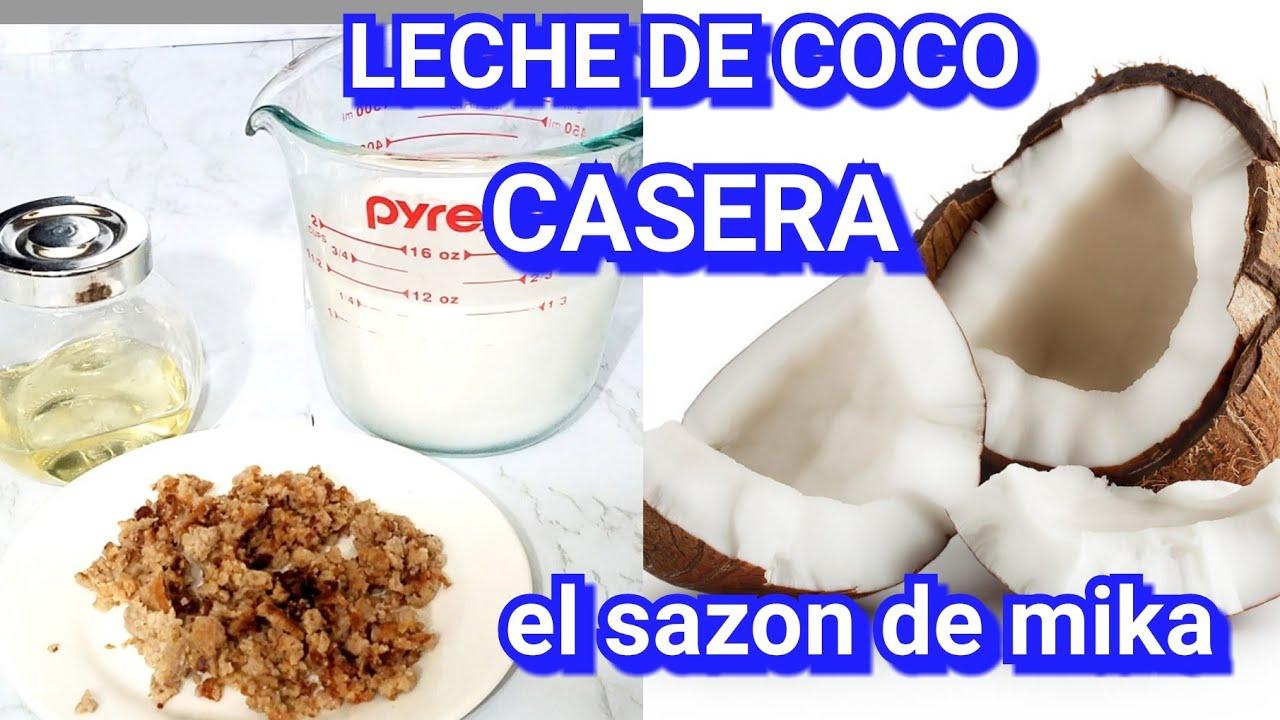 Como Sacar Leche De Coco Aceite De Coco Natural Youtube