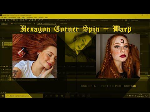 HEXAGON CORNER SPIN + WARP TUTORIAL [AFTER EFFECTS]