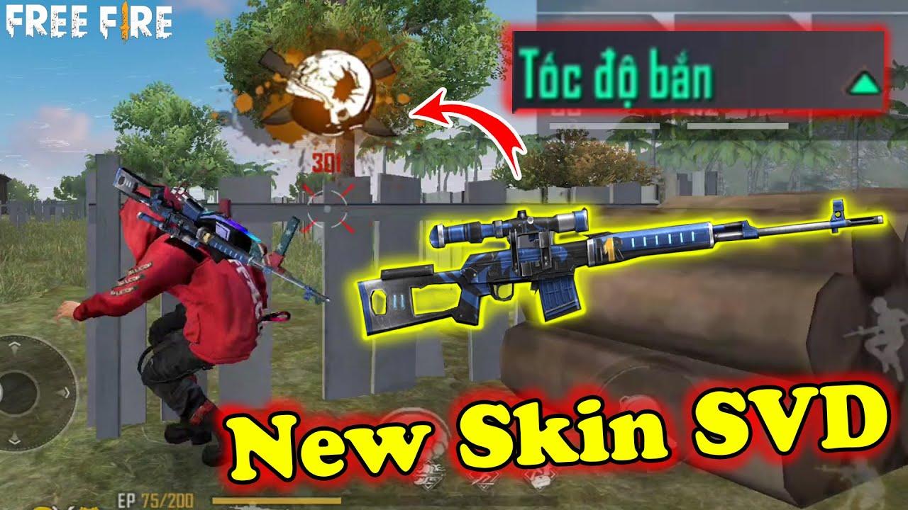 """Test Ông Vua """"Dragunov Ưng Thần"""" Tăng Tốc Độ Bắn Khủng Bố, New Skin SVD Falconer   Free Fire"""