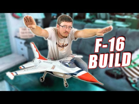 E-flite F-16 Thunderbirds 70mm EDF Jet Build & Unboxing Impressions - TheRcSaylors