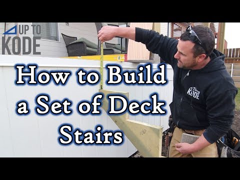 How To Build A Set Of Deck Stairs