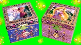 Music Box Surprise Princess Anna Elsa Disney Frozen & Rapunzel Surprise Blind Bags Kids toys