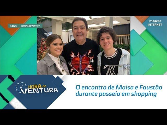 O encontro de Maísa e Faustão durante passeio em shopping - Bloco 01